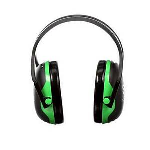 3M Peltor X1A Earmuffs Headband Green