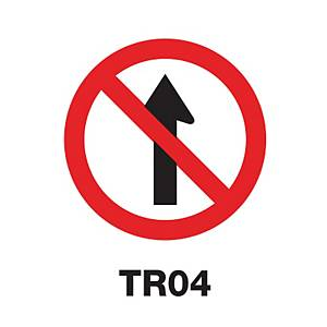 ป้ายจราจร TR04 อลูมิเนียม 45 เซนติเมตร