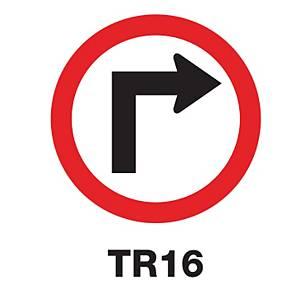 TR16 REGULATORY SIGN ALUMINIUM 60 CENTIMETRES