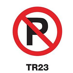 TR23 REGULATORY SIGN ALUMINIUM 60 CENTIMETRES