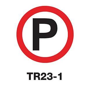 TR23-1 REGULATORY SIGN ALUMINIUM 60 CENTIMETRES