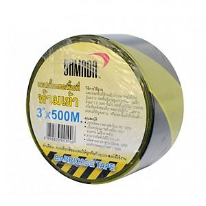 YAMADA BARRIER TAPE 3 INCHES 100 METRES YELLOW/BLACK