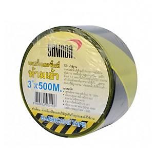 YAMADA เทปกั้นเขตพื้นที่อันตราย 3 นิ้ว X 500 เมตร เหลือง-ดำ