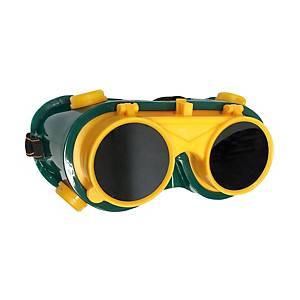 YAMADA แว่นตาสำหรับงานเชื่อม YMD-632 2 ชั้น กลม