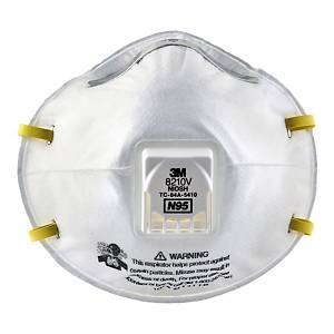 3M 8210V N95 VALVED RESPIRATOR BOX OF 10