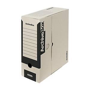 Archivačná prenosná krabica Emba, 33 x 26 x 11 cm, A4, čierna, 25 kusov