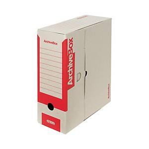 Archivačná prenosná krabica Emba, 33 x 26 x 11 cm, A4, červená, 25 kusov
