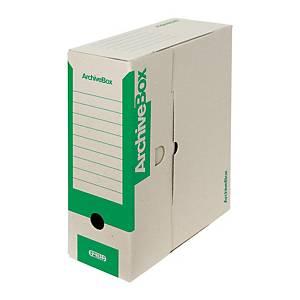 Archivačná prenosná krabica Emba, 33 x 26 x 11 cm, A4, zelená, 25 kusov