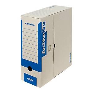 Archivačná prenosná krabica Emba, 33 x 26 x 11 cm, A4, modrá, 25 kusov