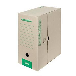 Archivačná prenosná krabica Emba, 33 x 26 x 15 cm, A4, prírodná, 20 ks