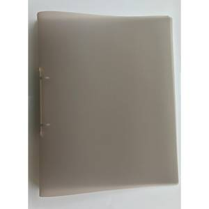2-RING BINDER PP A4 25MM TRANSP SMOKE