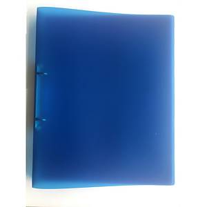 2-RING BINDER PP A4 25MM TRANSP BLUE