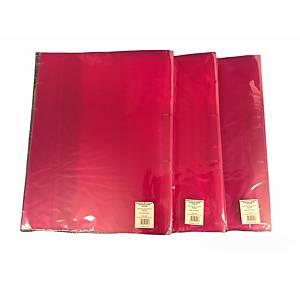 2-gyűrűs gyűrűskönyv PP 25 mm,  O  gyűrű - 20 mm, átlátszó piros