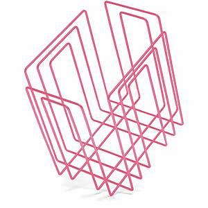 Portagiornali Compact, 27x37x37x37x37 cm, rosa neon