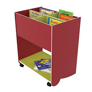 PAPERFLOW BOOKCASE RED/LIME