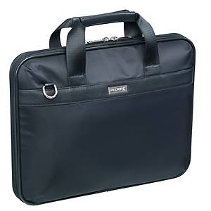 Briefcase Pierre, nylon, sort