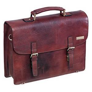 Briefcase Pierre Executive, retro, brun