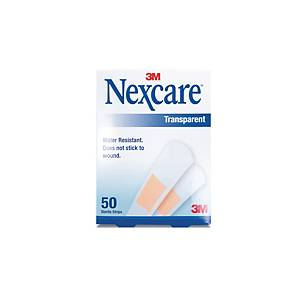Nexcare Transparent Strips - Pack of 50