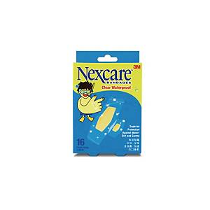 Nexcare Transparent Waterproof Bandages - Pack of 16