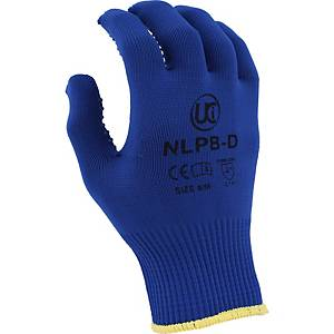 Polka Dot Grip Gloves 8 Blue