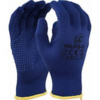 Polka Dot Grip Gloves 9 Blue