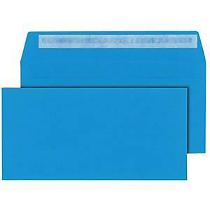 Briefumschläge C6/5 114x229mm ohne Fenster Haftklebung blau 25 Stück