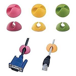 Organizer do kabli ESPERANZA EBA101M, miks kolorów, opakowanie 6 szt.