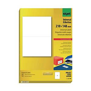 Sigel LA180 Universal Label 210 X 148mm - Pack of 200