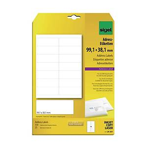 Sigel LA321 Address Label  99.1 X 38.1mm White - Pack of 350