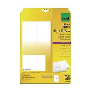Sigel LA322 Address Label 99.1 X 67.7mm White - Pack of 200