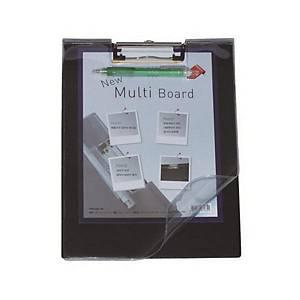 MECCALINE PVC CLIPBOARD 330X232 BLACK