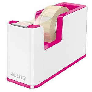 Dispenser pesante Leitz® Wow per nastri fino a L 33 m x H 19 mm bianco/fucsia