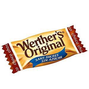 Saco de Werther s Original - sem açúcar - 1 kg - chocolate