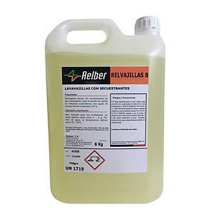 Detergente líquido para a loiça Relber profissional - 6 kg