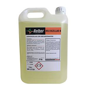 Detergente líquido Relber para lavavajillas profesionales - 6 kg