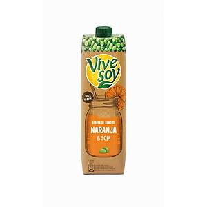 Pacote de sumo Vivesoy - laranja e soja - 1 L