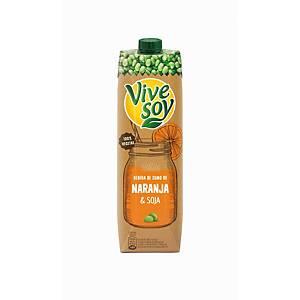 Botella de zumo Vivesoy - naranja y soja - 1 L