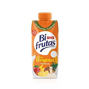 Pack de 3 pacotes de sumo Bifrutas Tropical Zero - 330 ml