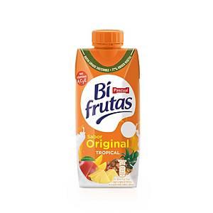 Pack de 3 briks de zumo Bifrutas Tropical Zero - 330 ml