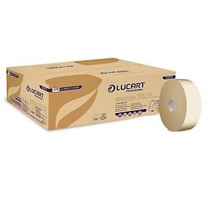 Pack de 12 rolos de papel higiénico Lucart Identity - Folha dupla - 202 m