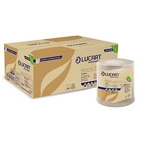 Pack 6 bobinas toalhas de mãos Lucart Identity - 155 m - Folha dupla - havana