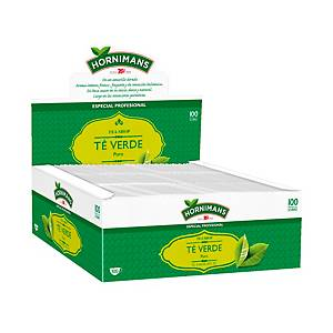 Caja de 100 bolsitas de té verde mentolado y aromático Hornimans