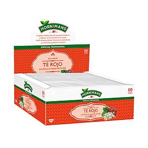 Caixa 100 saquetas de chá Hornimans vermelho