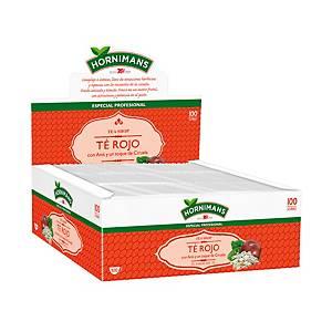 Caja de 100 bolsitas de té rojo Hornimans