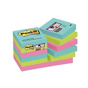 Foglietti Post-it® adesivo Super Sticky 12 blocchetti 47,6 x 47,6mm miami