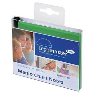 PAQUET DE 100 NOTES ELECTROSTATIQUES MAGIC-CHART 10x10cm VERT