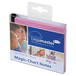 PAQUET DE 100 NOTES ELECTROSTATIQUES MAGIC-CHART 10x10 cm ROSE
