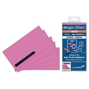 Legamaster Magic Chart Notes, roses, 10 x 20 cm, les 100