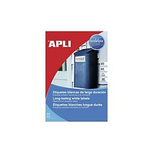 Caixa 280 etiquetas de poliéster Apli 1226 - 99,1x38,1mm - branco