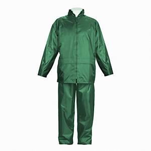 Fato impermeável revestimento em PVC Jomiba LTA 5053 - verde - tamanho L